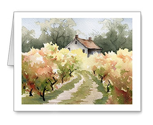 Vineyard House - Set of 10 Note Cards With Envelopes