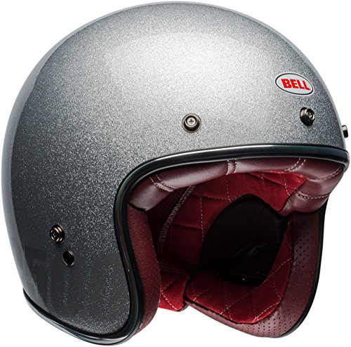 Bell Custom 500 Open-Face Motorcycle Helmet (Gloss Sliver Flake, Large)