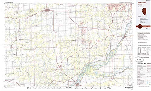 Macomb Center - YellowMaps Macomb IL topo map, 1:100000 Scale, 30 X 60 Minute, Historical, 1985, Updated 1985, 24.1 x 39.8 in - Polypropylene