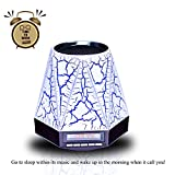 Gtide All-in-1 Portable Wireless Smart Multifunctional Bluetooth Speaker with LED Night Light/Table Lamp Support Color Changing/Hands-free calling/Alarm Clock/FM/TF Card/LED Display for Home, Bedrooms, Nursery, Baby Room, Kids Room, Party, Picnic, Outdoor Activities (black)