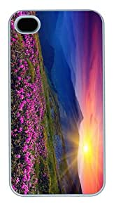 covers make mountains azalea sunset PC White Case for iphone 4/4S