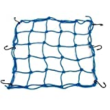 Blue Elastic Nylon Rubber Luggage Package Cargo Flexible Net for Motorcycle Car