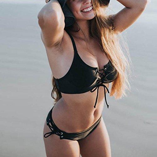 Costumi Push Costumi Estate bagno da Mare sulle Bikini Bagno Costume push bende Black bagno bagno donne Costume Beachwear imbottito da Spiaggia sexy da con Da Tops Up up Femminile Sexy Koly U4wqBZ