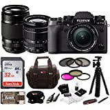 Fujifilm X-T2 Mirrorless Digital Camera w/ 18-55mm +55-200mm F3.5-F4.8R LM OIS+ Focus 32GB Kit