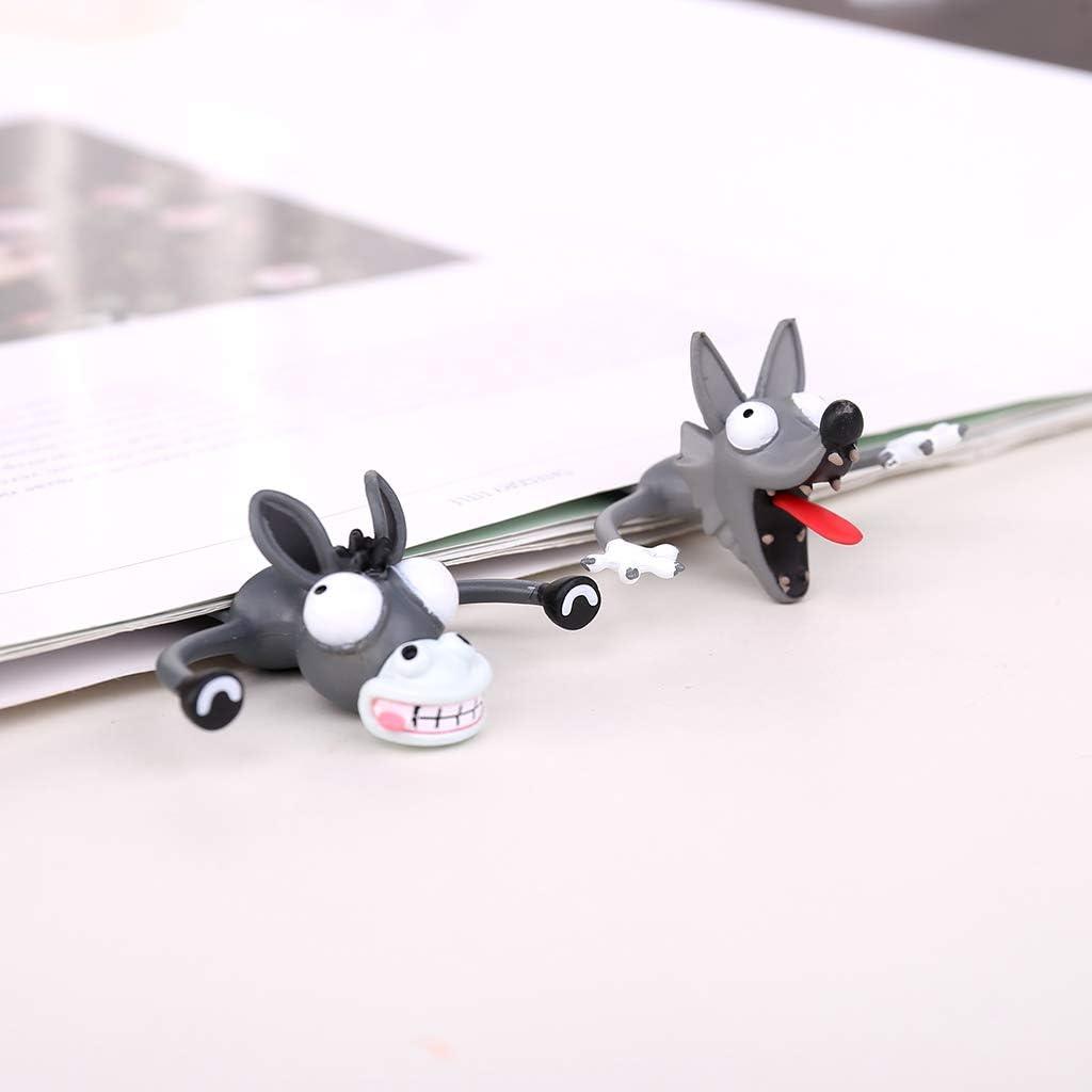 3D-Stereo-Karikatur reizende Tier-Lesezeichen nette Katzen Kaninchen Lustige Studenten-Kind-Geschenk