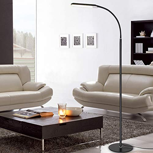 WensLTD Modern Floor Lamp - Adjustable LED Reading and Process Floor Lamp Dimmable Eye Protection Remote Control Switch (Ship from US!!!)
