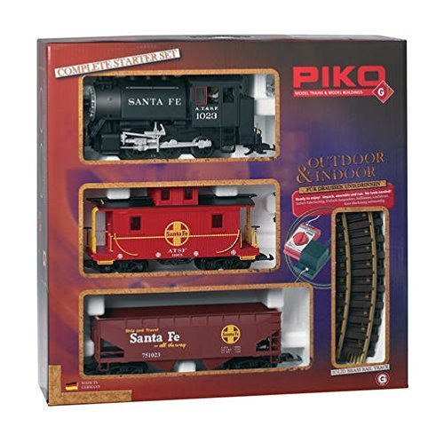 PIKO G SCALE SANTA FE FREIGHT STARTER SET - PIKO G SCALE MODEL TRAIN SET 38104