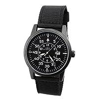oDo Shmeichel Tactical Watch WW2 Luftwaffe Style Military Watch Full Black