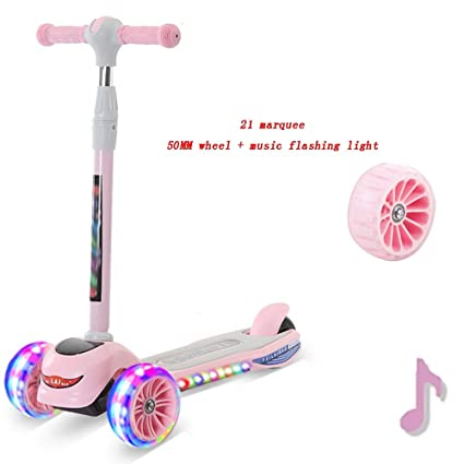 YUMEIGE Patinetes Patinetes One-Click Plegado Big Wheel Kick ...