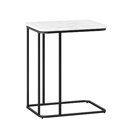 Tavolo In Marmo Bianco.Tavolo Da Salotto Moderno Minimalista 50x30x58 Cm Aspetto Marmo