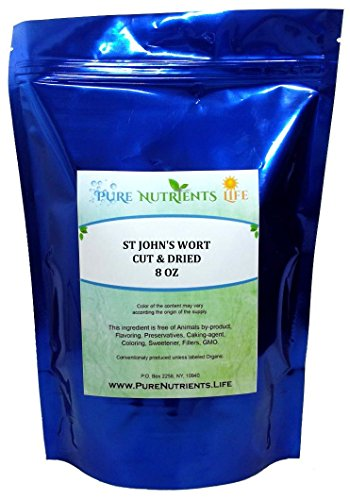 ST JOHN'S WORT (8 oz) 100% Pure Cut & Dry - Food Grade