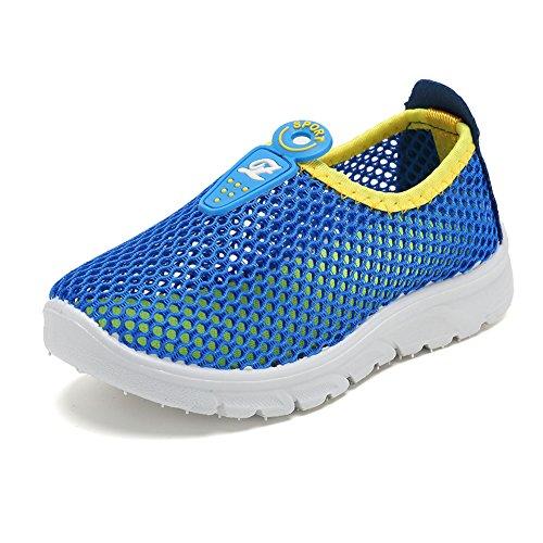 CIOR Kids Slip-on Breathable Sneakers For Running Beach Toddler / Little Kid,D110,Blue?32 0