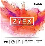 D\'Addario Zyex Bass String Set, 3/4 Scale, Medium Tension