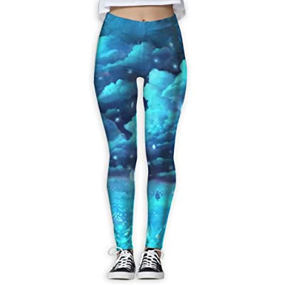 XDDFRTFF Women's Full-Length Yoga Pants 3D Printed Beautiful Comic Workout Leggings