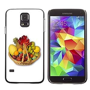 TopCaseStore / la caja del caucho duro de la cubierta de protección de la piel - Fruit Macro Fruit Basket - Samsung Galaxy S5 SM-G900