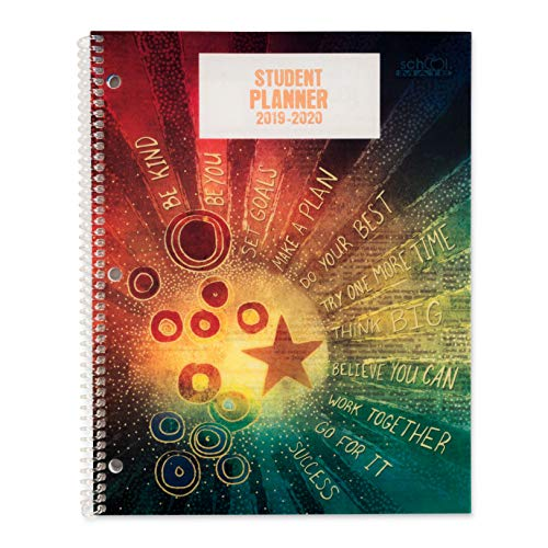 Dated Middle School Student Planner for 2019-20