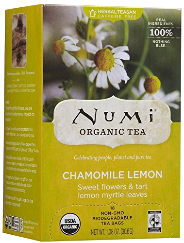 Tea Chamomile Lemon Tea - Numi Organic Tea Chamomile Lemon Herbal, 18 ct