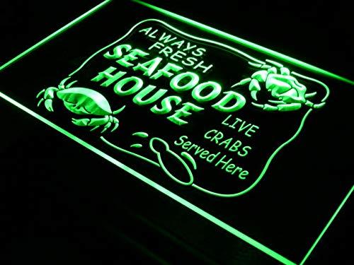 ADVPRO Seafood House Fresh Crabs Display LED看板 ネオンプレート サイン 標識 Blue 600 x 400mm st4s64-j443-b B07GNS8QKG 24