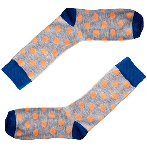 Socks - Polka Dot - Orange, Navy, Grey