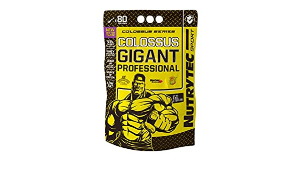 Nutrytec Colossus Series Colossus Gigant - 8 kg Chocolate: Amazon.es: Alimentación y bebidas