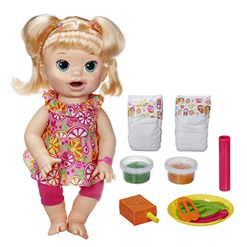BABY ALIVE Super Snackin Snacks Sara Blonde Speaks English Doll Kids