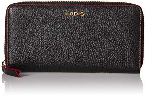 Lodis Lined Wallet (Lodis Kate Joya Zip Around Wallet, Black, One Size)