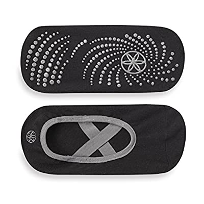 Amazon.com : Gaiam Grippy Barre Socks for Extra Grip in Standard or Hot Yoga, Barre, Pilates, Ballet or at Home for Added Balance and Stability, Black/Grey : Sports & Outdoors