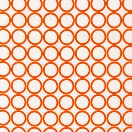 (Metro Living Circle Print in Carrot Fabric One Yard (0.9m) EIP-11016-151 CARROT)