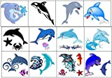 Dolphin Collection (Dolphin Temporary Tattoos)