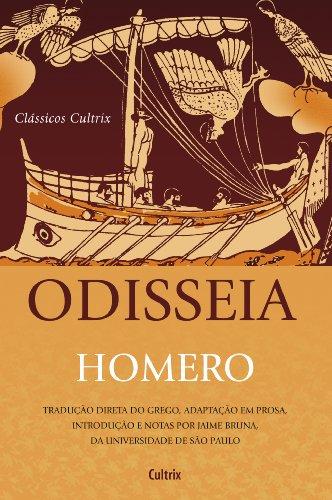 Odisséia - Nova Edição: Tradução Direta Do Grego, Adaptação Em Prosa, Introdução E Notas Por Jaime Bruna, Da Universidade De São Paulo