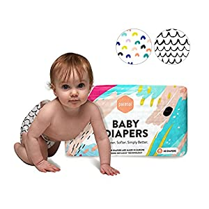 Parasol Baby Diapers, Hypoallergenic, Chlorine Free, Sensitive Skin Safe, Ultra Soft, Super Absorbent - Premium Quality, Size 2, Delight Collection, 56 Count