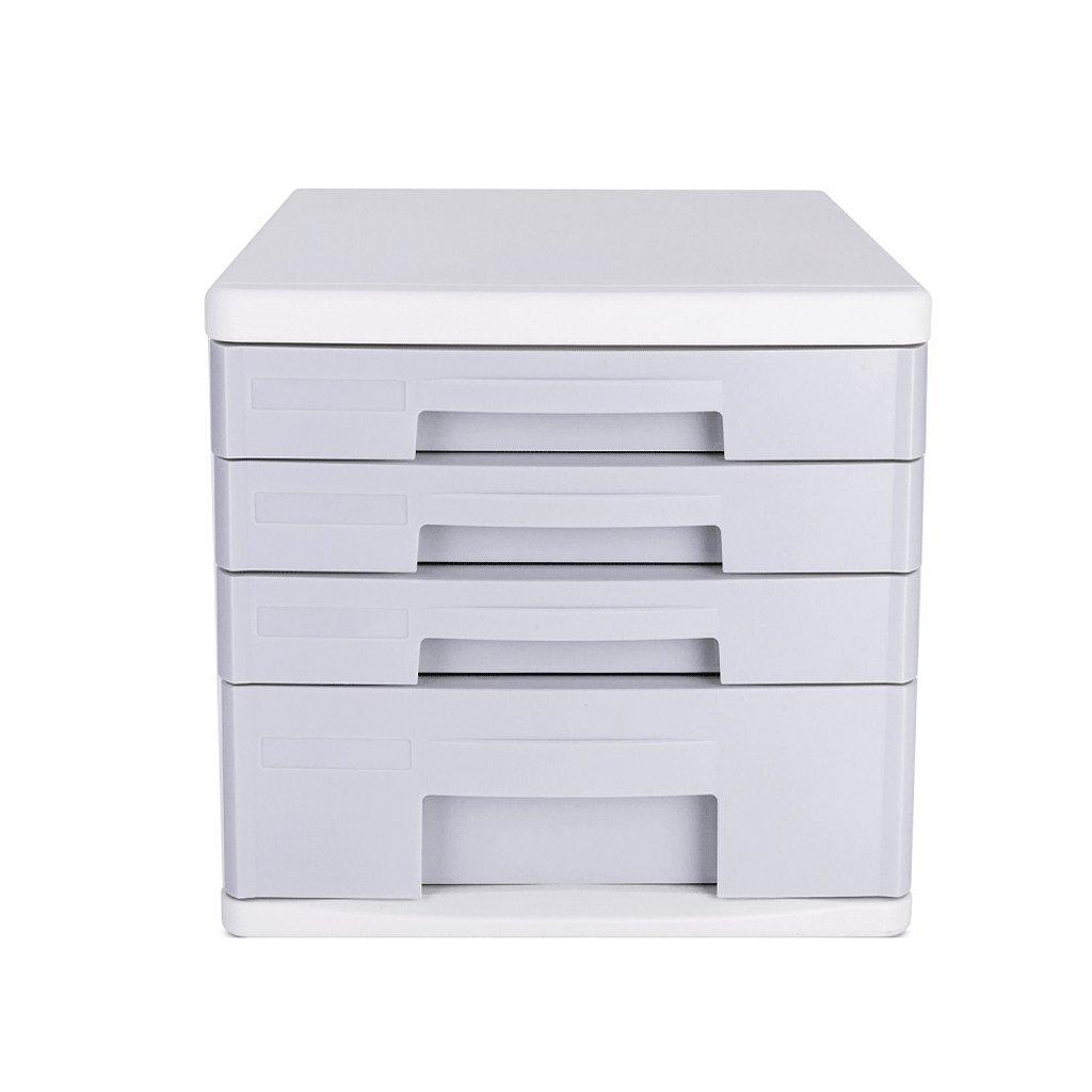 File Cabinets 4-Layer A4 Plastic Storage Box White Desktop DELICATEWNN