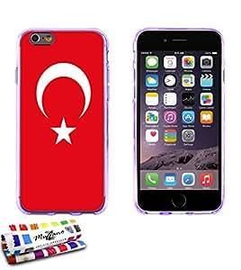 Carcasa Flexible Ultra-Slim APPLE IPHONE 6 PLUS 5.5 POUCES de exclusivo motivo [Bandera turquia] [Violeta] de MUZZANO  + ESTILETE y PAÑO MUZZANO REGALADOS - La Protección Antigolpes ULTIMA, ELEGANTE Y DURADERA para su APPLE IPHONE 6 PLUS 5.5 POUCES
