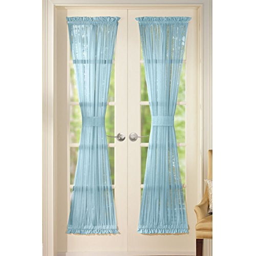 Solid Sheer Pocket Curtain Panels
