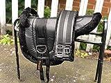 Equipride Ridiing Bareback Pad Shetland & Mini Horse Pony Saddle with Girth Faux Mink BLACK (Shetland (Small Pony))