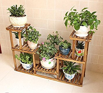 Small Outdoor Herb Flower Plant Stands Multilayer Flower Racks