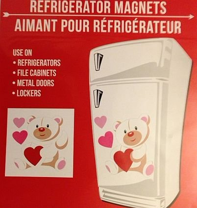 Large Magnetic Valentine Teddy Bear Refrigerator Dishwasher Locker Decoration