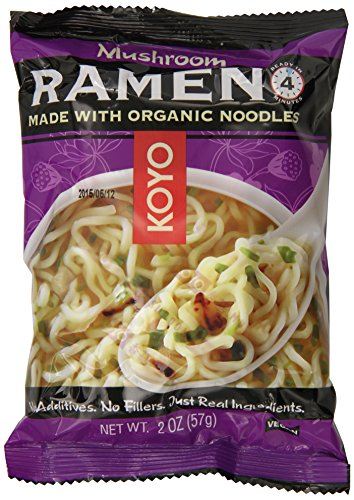 Koyo Ramen, Mushroom, 2 Ounce (Pack of 12) (Pasta Dried)