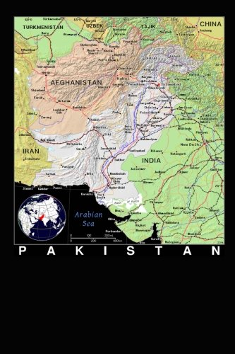 Modern Day Color Map of Pakistan Journal: Take Notes, Write Down Memories in this 150 Page Lined Journal