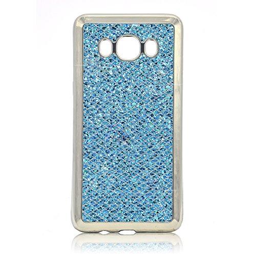 Samsung Galaxy A5 2015 Cubierta de la Caja del Caucho, Galaxy A5 2015 Glitter Caso TPU de la Contraportada del Brillo de Bling, Vandot Elegante de Lujo Chapado Electroplate Cromo Marco Carcasa Flexibl LPSSRK 07