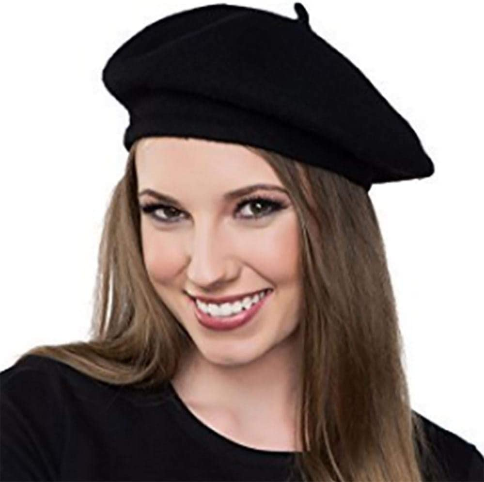 LADIES BLUE BERET FRENCH CAP BASTILLE DAY COSTUME HAT FRENCH FASHION FANCY DRESS