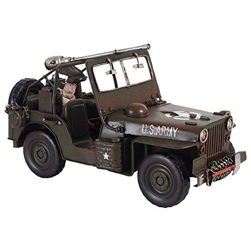 ブリキのおもちゃ B-クルマ07 アンティーク レトロ 車 クルマ ビンテージ クラシックカー ウィリスWILLYS MB ジープ JEEP B079VJXLLV クルマ07 クルマ07
