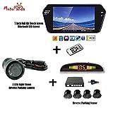 MotoPanda Combo of 7 Inch Full HD Touch Screen Bluetooth LED Screen + 8LED Reverse Camera for Cars + Reverse Parking Sensor