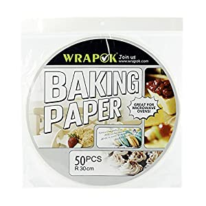 Wrapok 12 Inch Kitchen Perforated Parchment, Bamboo Steamer Liners, Not stick Steaming Papers