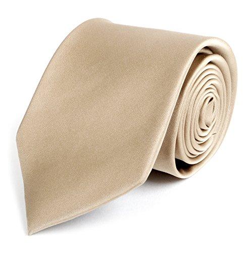 Men's Solid Taupe Silk Tie