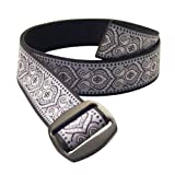 Bison Designs Women's Manzo Belt with Anodized Aluminum Buckle, Paisley, Medium/38-Inch