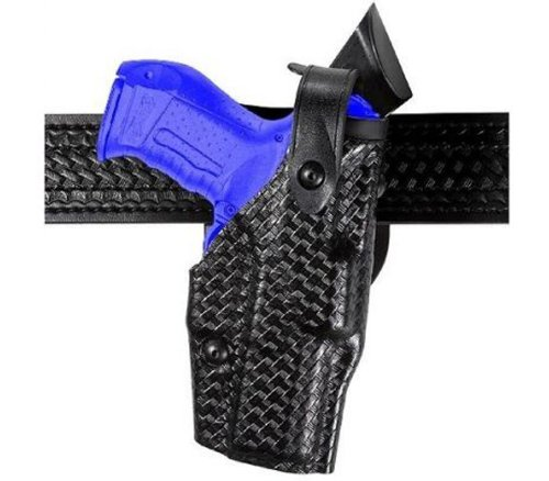 Safariland 6360 Level III ALS Retention Duty Mid Ride Holster, STX Black Basket weave, Glock 17, 22 with ITI Streamlight M3 Light (Right - Gun Light M3