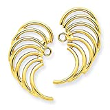 14K Yellow Gold Polished Swirl Shaped Earring Jackets - (0.91 in x 0.51 in)