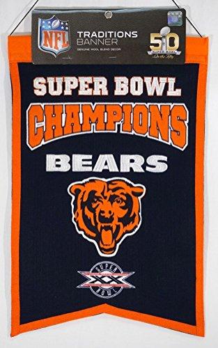 NFL Chicago Bears Super Bowl Champions Banner