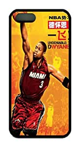Dwyane Wade iphone 5s soft Plastic black case, designer iphone 5s case Dwyane Wade